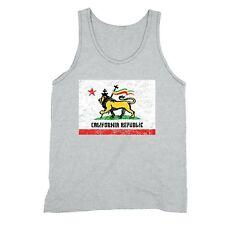 California Republic Flag Tanktop Rasta Lion of Judah Zion Jamaica Cross Tank