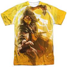 Mortal Kombat XI Scorpion Sublimation Licensed Adult Slim Fit T-Shirt