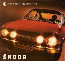 Skoda S100 L S110 L LS R 1973 Dutch Market Foldout Sales Brochure