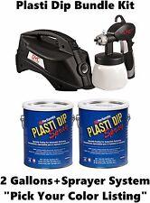 Plasti Dip 2 Gallon + DYC DipSprayer System Bundle Kit Black, Camo, All Colors