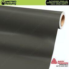 Avery Supreme MATTE DARK GREY Vinyl Vehicle Car Wrap Film Sheet Roll SW900-856-O