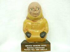 83A- Vintage Garamycin Mochica Drinking Vessel Statue