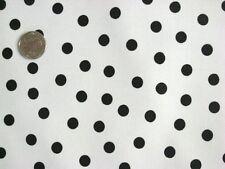 WHITE + BLACK POLKA DOT KITCHEN PATIO DINING OILCLOTH VINYL TABLECLOTH 48x72 NEW