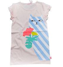Billieblush Shirt- Kleid Katze Rüschen rosa 92 98 104 110 116 122 128 134 140