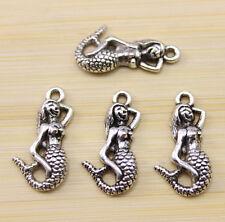 25/50/100 pcs wholesale: beautiful Tibet silver sea-maid charm pendant 23x12mm