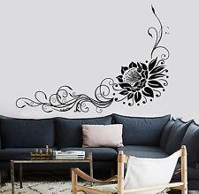 Wall Sticker Lotus Floral Flower Om Relaxation Yoga Zen Vinyl Decal (z2950)