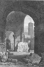 Rome, TEMPLE OF PEACE FORUM ROMANUM VESPASIAN ~ Antique 1830 Art Print Engraving