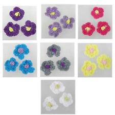 10 X Hand Crochet Flowers scrapbooking card making sewing ~MOTIF APPLIQUES