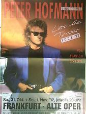 PETER HOFMANN    1992        FRANKFURT  orig. Concert  Poster   118 x 84 cm