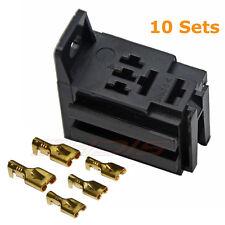 5PIN Terminal Mini Relay Connector Socket - Bracket Terminal Case Holder 40A NEW