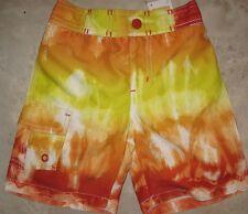 Nwt Gymboree Boys Orange Yellow Ombre Fire Swim Shorts Upf 50+ U Pick Size New