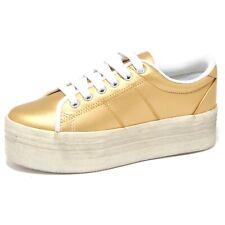 9258O sneaker zeppa JEFFREY CAMPBELL ZOMG oro scarpa donna shoe woman