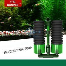 QANVEE Bio Sponge Filter Shrimp Fish Plant Tank QS100A QS200A w/ filter media