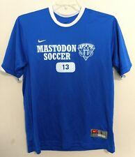 Nike Dri Fit Mens Blue Official Ipfw Mastodons Fort Wayne Soccer Jersey T-Shirt