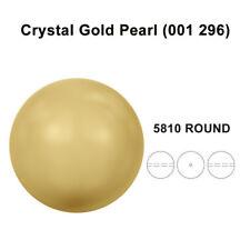 CRYSTAL GOLD PEARL (001 296) Genuine Swarovski 5810 Round *Pick Sizes