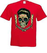 Camiseta Rojo sudaca rockabilly- & `50 stylemotiv Modelo sudaca hojas