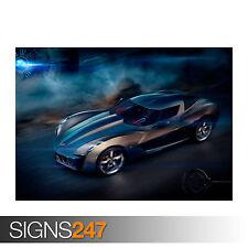 CHEVROLET CORVETTE STINGRAY CONCEPT (0656) Car Poster -  Photo Poster Print Art