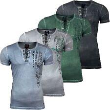 RUSTY NEAL T-Shirt Kurzarm Poloshirt Hemd Slim Fit Japan Style Kurzarm 6784