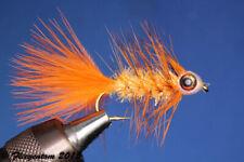 Fliegentom Streamer 3 piéces Fishmask Wooley Bugger Krystal orange grizzly