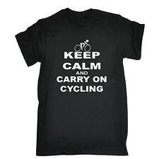 Keep Calm and Carry on Camiseta Ciclismo Bicicleta Rider Top Gracioso Regalo Padres Día