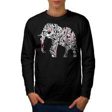 Elefante Uomo Manica Lunga T-shirt Nuove | wellcoda