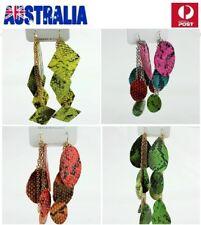 Fashion Woman Jewellery Chandelier Dangle Long Earrings Punk Leather Chain E11