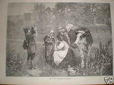 The Savoyards Breakfast Meyerheim print 1873