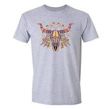 Cow skull T-shirt Native American Dream Catcher Texas TShirt Mandala Tribal Tee