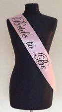 Elegant Pink & Black Hen Party Sash Sashes Multi Selection Choice Classy Style