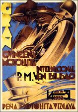 Bilbao España 1932 Motocicleta mostrar Camiseta. Caballeros, Damas & Niños Tamaños De Motos