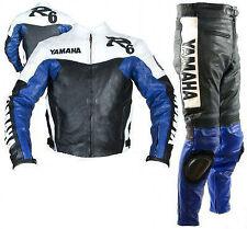 HAUT R6 Costume de Motard en Cuir Biker Costume Moto Cuir Veste Pantalon EU-54