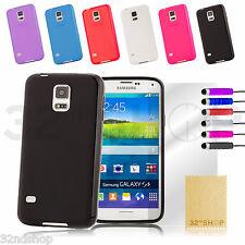 Cristal Gel De Silicona Funda Para Samsung Galaxy S4 Mini + Protector De Pantalla
