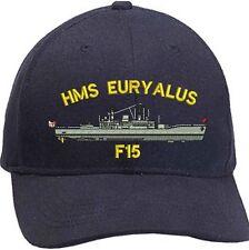 Hms Euryalus F15 Leander Classe Ricamato Baseball Cappellini