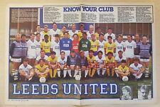 MATCH Football Magazine (Soccer) A3 team picture 1984/85 Season VARIOUS Teams