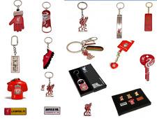 Liverpool FC Keyring Badge Bag Charm Door Key Bottle Opener Torch Leather Gift