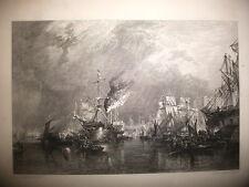 LONDRA,porto,incisione originale XIX secolo,MARINA
