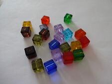 20 Swarovski style Cut Crystal Cube Beads 8mm FREE P&P - Colour choice
