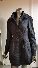 NWT Stussy Girls Blk Drawstring Bottom Rain Jacket Junior Coat