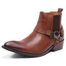 NEU Stiefeletten Schuhe Leder Stiefel Herrenstiefel Cowboy Westernstiefel