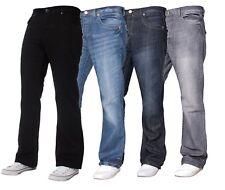 BNWT Mens Designer Basic Bootcut Flared Wide Leg Denim Jeans All Waist Sizes