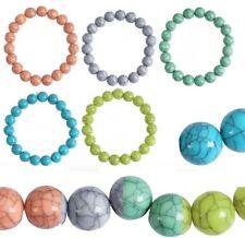 Kugelarmband Perlenarmband 17cm Gummizug 1cm Kunststoff Kugeln 5 Farben wählbar