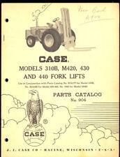 1962 CASE FORK LIFT 310B / M420 / 430 / 440 PARTS MANUAL