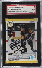 1990-91 Score Rookie & Traded 27T Paul Stanton PSA Authentic Pittsburgh Penguins