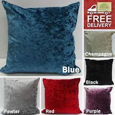 Stylish Luxury Crushed Velvet Cushion Cover Square Case Modern Boudoir Home New