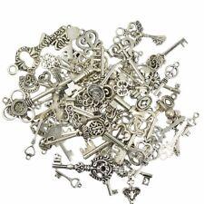 Vintage Schlüssel Silber Mix - Steampunk Gothic Schmuck Anhänger - Basteln Charm