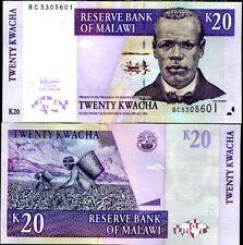 MALAWI 20 KWACHA 2007 P NEW UNC