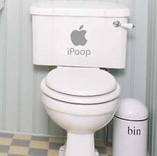 Bathroom Toilet Art Vinyl Sticker - iPoop Art fun Sticker, Home DIY Art Decal