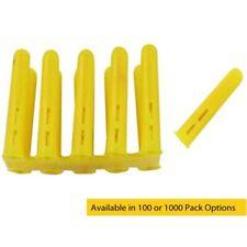 Yellow Plastic 4-8mm Screw Rawl Wall Plugs - Tough, High Density Trade Quality