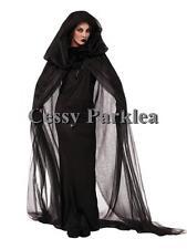 Adult Ghost Mid-night Zombie Vampire Dead Fancy Dress Halloween Costume