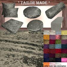 Mv09 Gray-Bronze Crush Velvet Sofa Seat Patio Bench Cushion Bolster Cover/Runner